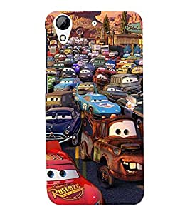 Printvisa Premium Back Cover Animated Human Cars Design For HTC Desire 626::HTC Desire 626G Plus::HTC Desire 626G+