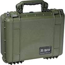 "Pelican 1450 OD Green Equipment Case with Foam 13"" x 16"" x 6.88"""