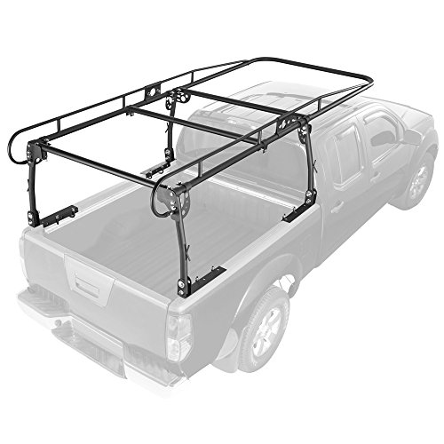 Rage Powersports UPUT-RACK-V2 Apex Contractor Pickup Truck Ladder Rack with Cab Overhang (25' Cab Height) (Removable Truck Bed Rack compare prices)