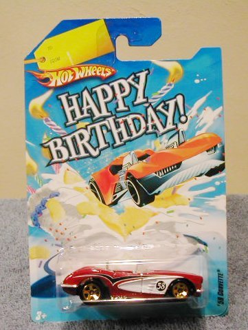 Hot Wheels Happy Birthday Cars 58 CORVETTE RED by Hot Wheels