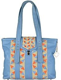 Terra Leather Blue Handbag (RRLP - LAUREN43_11)