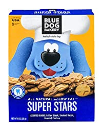 Blue Dog Bakery Super Stars Assorted Small Dog Treats, 10 Ounce (Pack of 6)