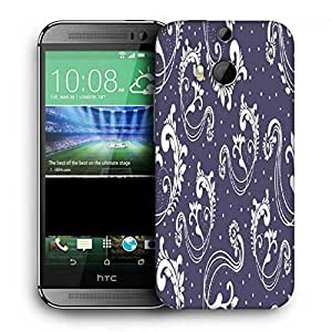 Snoogg Abstract Grey Pattern Printed Protective Phone Back Case Cover For HTC One M8
