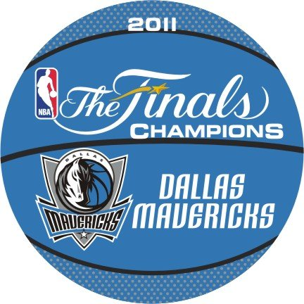 Dallas Mavericks Finals Champs Basketball Shaped Rug