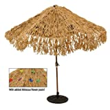 Tropical Express Raffia Colored Tiki Luau Umbrella Cover, 9-Foot Diameter