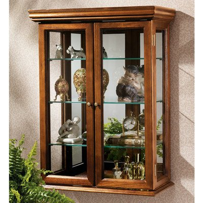 wall curio cabinets wall mounted curios save space. Black Bedroom Furniture Sets. Home Design Ideas