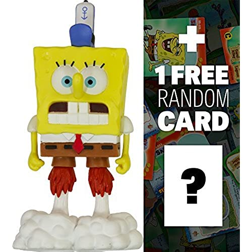 Spongebob Blast Off Mini-Figure: SpongeBob Squarepants Mini-Figure World Series + 1 FREE Official SpongeBob Trading Card Bundle [병행수입품]-
