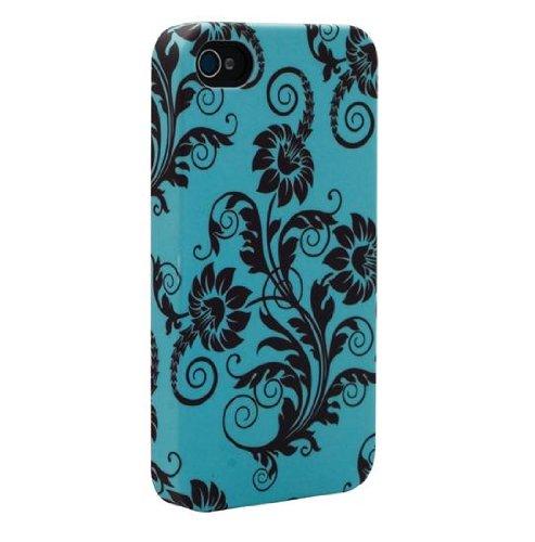 Venom Signature Hard Shell Case For iPhone 4/4S - Fleur de Lys Green & Black