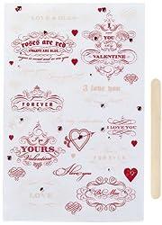 Martha Stewart Crafts Heart And Love Phrase Transfers