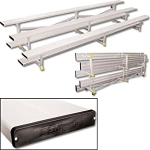 Tip-N-Roll Bleachers w Three Rows & 30-Seat Capacity from Athletic Connection