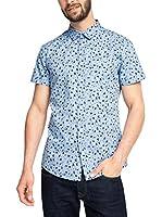 edc by ESPRIT Camisa Hombre (Azul Claro)