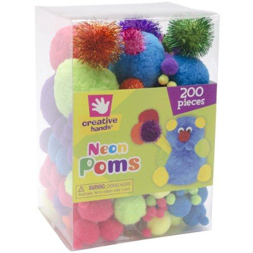 Pom Poms 200/Pkg-Neon - 1