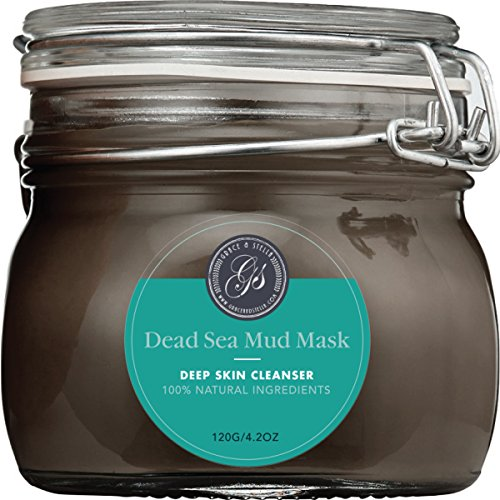 Grace & Stella Co. discount duty free NEW Advanced Dead Sea Mud Mask, 200g/ 7 fl. oz. (New Packaging) - Reduces Wrinkles, Facial Treatment, Minimizes Pores, Improves Overall Complexion - Provides Relief from Acne, Blackheads, Pimples