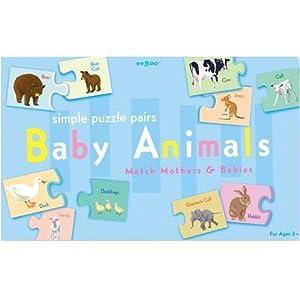 Eeboo Baby Animals Puzzle Pairs