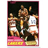 1981 82 Topps Basketball Card # 21 Magic Johnson 2nd YEAR CARD Los Angeles Lakers In... by Topps