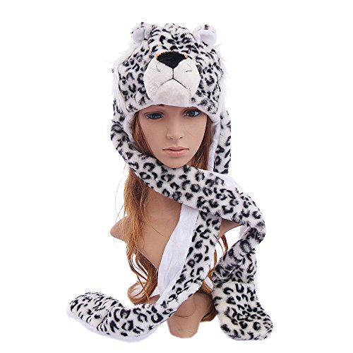 [Leopard_(US Seller)Animal Cap Costume Long Paws Hat Scarf Mittens] (Hobbes Costumes For Sale)