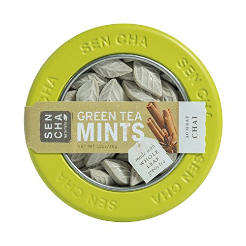 Sencha Naturals Green Tea Mints, Bombay Chai, 1.2-Ounce Canister