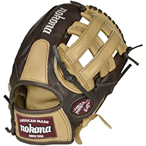 Nokona Buckaroo (Sandstone/Chocolate Kangaroo) Baseball Glove H Web 11.75 (Right Handed Throw)