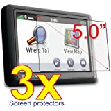 3x Garmin Nuvi 50 50LM 50LT 50LMT T LT LM LMT GPS Premium Clear LCD Screen Protector Cover Guard Shield Protective Film Kit (3 Pieces)