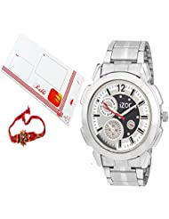 Rakhi Gift For Bhai,brother,father,boys,men,White Dial Analogue Casual Wear Watch With FreeRakhi (Rakhi Designs...