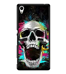Colourful Skull 2D Hard Polycarbonate Designer Back Case Cover for Sony Xperia Z4