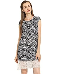Pleated Lace Dress Small