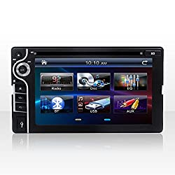See Bosion 2 DIN Touchscreen Car Stereo with Bluetooth Dvd Mp3 Radio 6.2inch Black Details