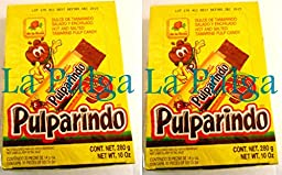 2 - Pulparindo Yellow Hot and Salted Tamarind Pulp Mexican Candy 20 pcs Each