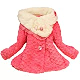 New Baby Girls Kids Toddler Outwear Clothes Winter Jacket Coat Snowsuit Clothing (2-3 Years, Red)