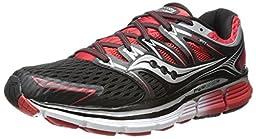 Saucony Men\'s Triumph ISO Running Shoe,Black/Red,14 M US