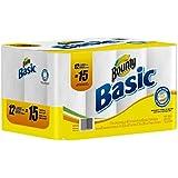 Bounty Basic Paper Towel Rolls 1-ply White 12ct