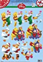 Die Cut Découpage Sheet - Christmas Glitter Winne the Pooh