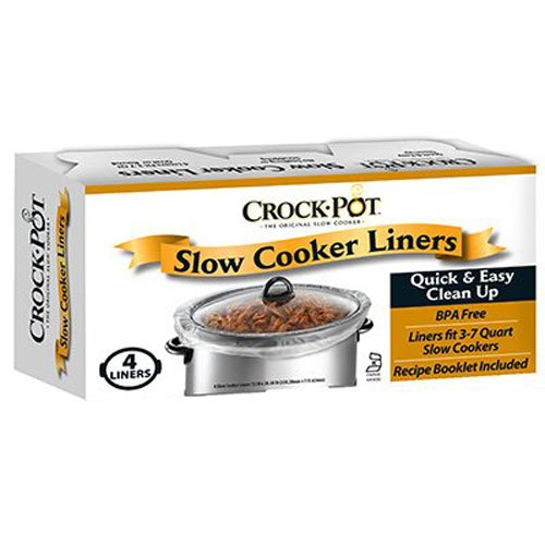 Crockpot Slow Cooker Liner - 4 liners 13In x 20.30In (Three Quart Crock Pot compare prices)