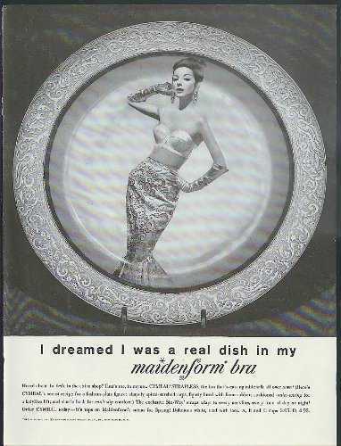 I Dreamed I Was A Real Dish In My Maidenform Bra Ad 1960