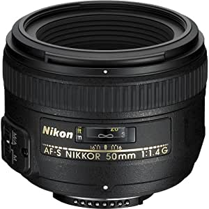 Nikon AF-S FX NIKKOR 50mm f/1.4G Fixed Zoom Lens with Auto Focus for Nikon DSLR Cameras