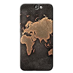 ANTIQUE WORLD MAP BACK COVER HTC ONE A9