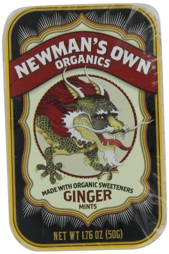 Newman'S Own Organics Mints, Ginger, 1.76-Ounce Packages (Pack Of 6)