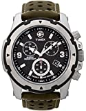 Timex Expedition T49626 - Reloj de caballero de cuarzo, correa de piel color verde