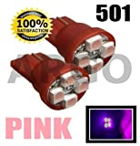 4 SMD LED XENON PINK QUAD 501 T10 SIDELIGHT BULBS RENAULT CLIO