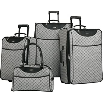 Pierre Cardin Signature 4 Piece Luggage Set, Grey, One Size