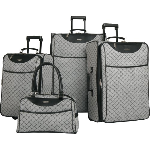 Pierre Cardin Signature 4 Piece Luggage Set, Grey, One Size B0035JXWU8