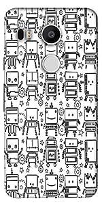 Snoogg Digit Bit Boy Pattern Designer Protective Back Case Cover For Lg Googl...