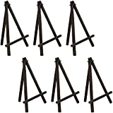 "US ART SUPPLY 8"" Mini Wood Display Easel Black (6-Pack)"
