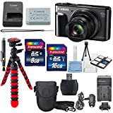 Canon PowerShot SX720 HS Digital Camera with a Total of 24 GB SDHC, Flexible Tripod, Travel Charger, Cleaning Pen, Carrying Case, Along with a Deluxe Bundle