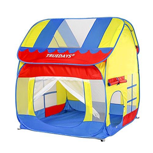 Truedays Kids Outdoor Indoor Fun Play Big Tent Playhouse, 55.1x47.2-Inch (Play Houses Indoor compare prices)