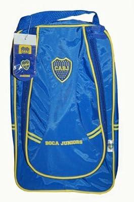 CABJ Boca Juniors Futbol Soccer Blue Zipper Shoe Bag