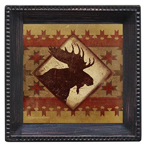 Thirstystone Ambiance Coaster Set, Lodge Moose, Multicolored
