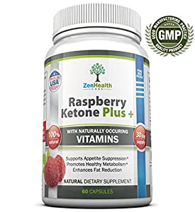 Raspberry Ketones Fresh And Natural Weight Loss Supplement - Advanced 1200mg Ketone Plus Formula - FREE Weight Loss Guarantee - MAX Strength Diet Pills & Best All Natural Fat Burner - Full 30 Days Supply