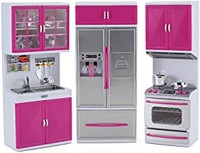 My Modern Kitchen Full Deluxe Kit Battery Operated Kitchen Playset Refrigerator Stove Sink