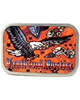 Truth And Justice Eagle Tattoo Belt Buckle